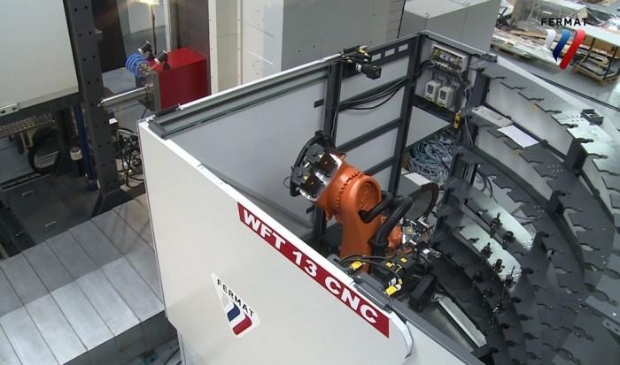 18. ábra: Robotizált, polcos szerszámtároló egység