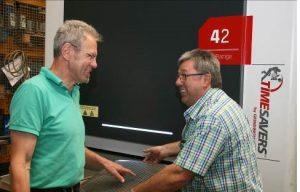 Sorjátlanítás kiváló eredménnyel, elégedett felhasználók: Walter Feil cégvezető (balra) és Martin Benninger, a technológiai részleg vetetője