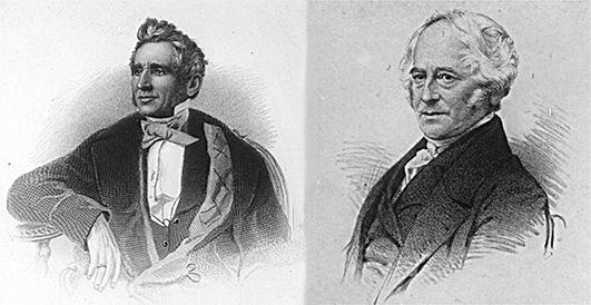 3. ábra A gumiipar megalapítói: Goodyear (bal) és Hancock (jobb)
