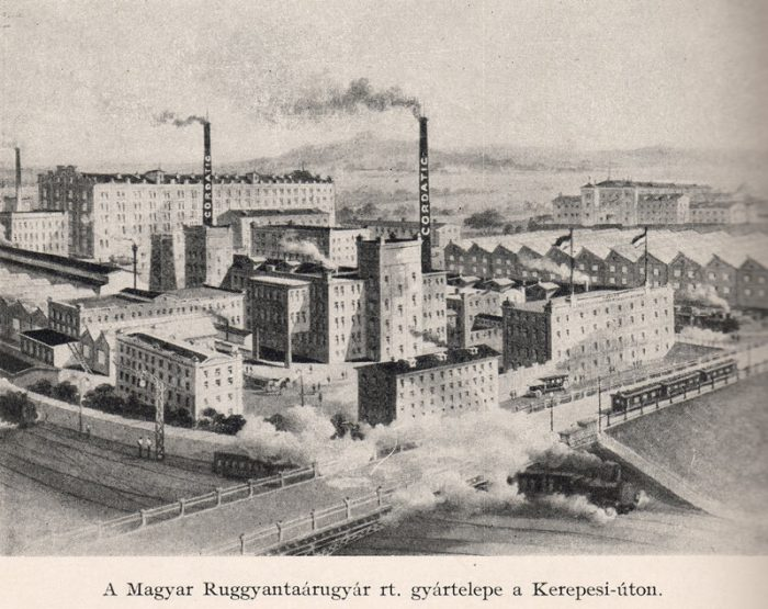 4. ábra Az MRG gyártelepe a Kerepesi úton
