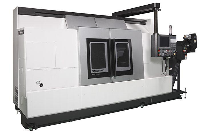Az Okuma LB3000 EX II ideális a hosszú, karcsú darabok megmunkálására.