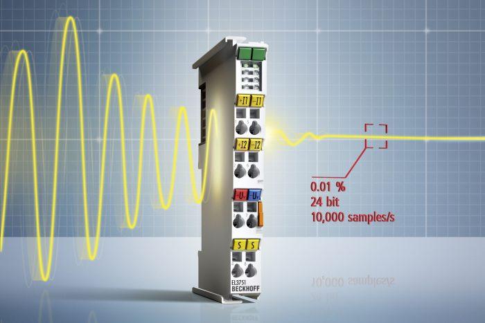 Az EL3751 típusú analóg bemeneti terminál mérési funkciói széles határok között paraméterezhetők mind áramköri, mind szoftveres szinten.
