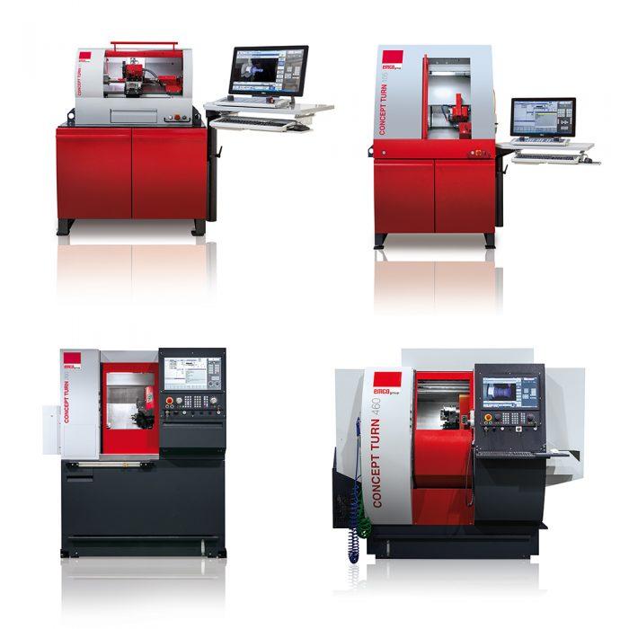 EMCO CONCEPT esztergáló gépek: CT 60, CT 105, CT 260 és CT 460 © EMCO GmbH