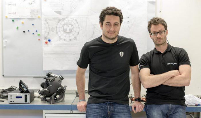 Eduardo, a Koenigsegg kompozit mérnöke és Louis-Olivier a Creaform műszaki szakértője