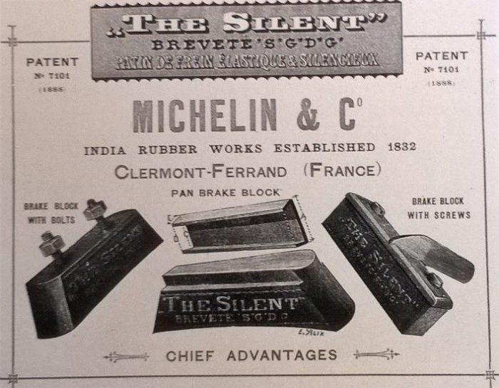 """2. ábra: Az egyik legelső sikertermék a Michelin történetében: """"The Silent"""""""