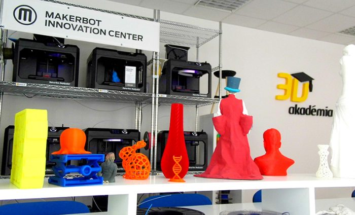 MakerBot Innovation center a 3D Akadémián