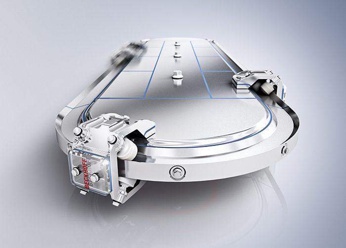 Az IP 69K védettséggel rendelkező, rozsdamentes acélból készült XTS-rendszer olyan területeken is alkalmazható, ahol szigorú higiéniai követelményeket kell kielégíteni.
