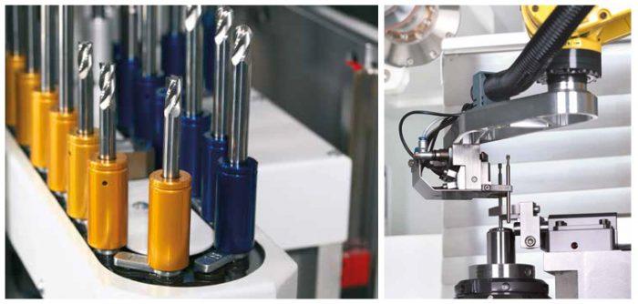 Láncos adagoló és robotizált rakodócella ISOG S20, S22 és S24 gépekhez