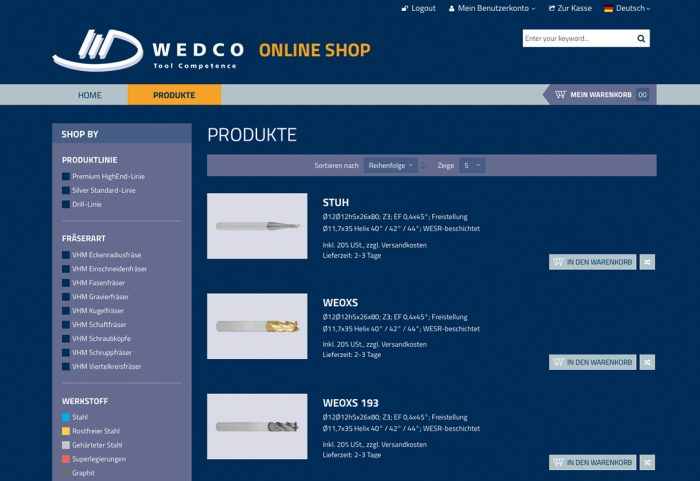 wedco_webshop