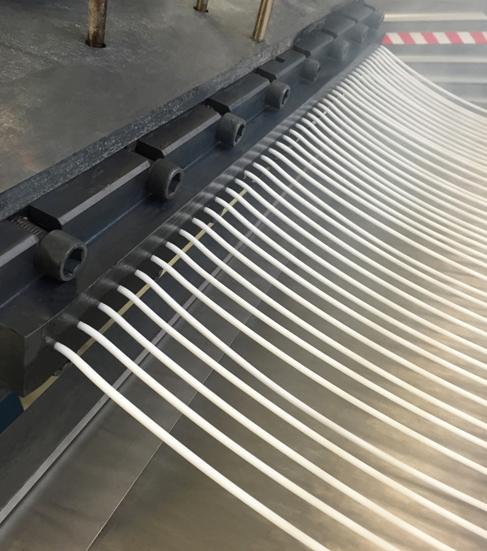 1.ábra Szálextruder szerszám működés közben (Coperion)