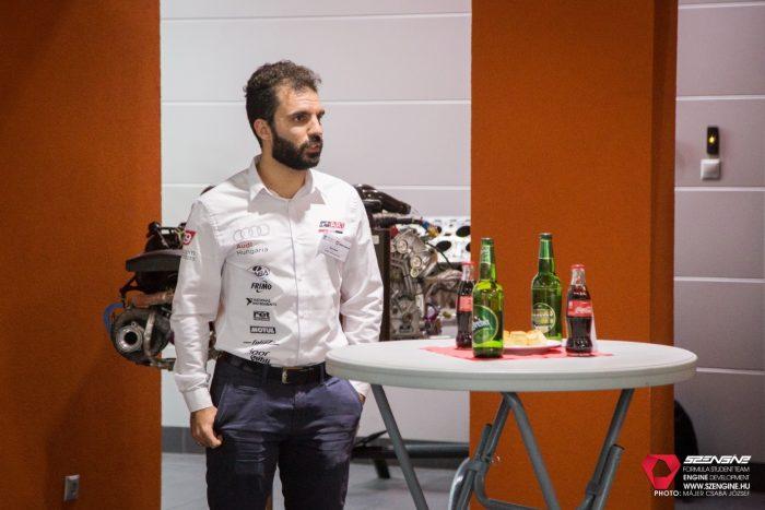 Kun János, az Arrabona Racing Team csapatvezetője