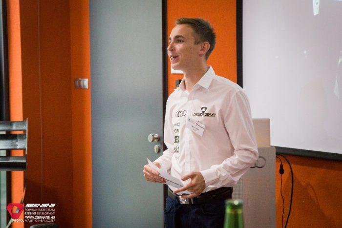 Légrádi Gergely, a SZEngine csapatának konstrukciós vezetője