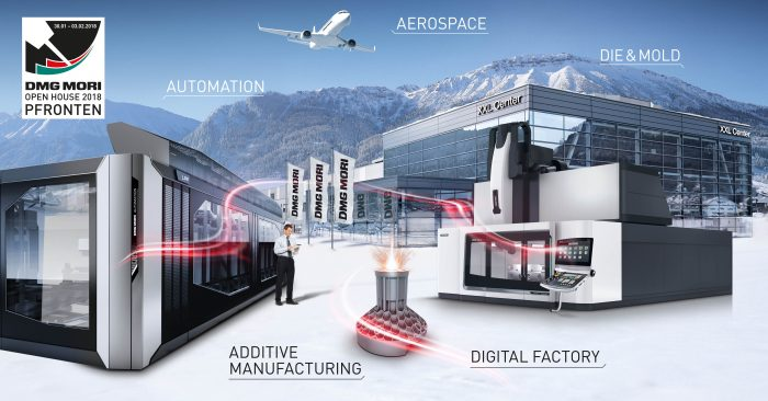 A DMG MORI pfronteni Open House rendezvényén bemutatásra kerül a digitális gyár, valamint az abba integrált számos automatizálási megoldás; a rendezvényen továbbá szerephez jut az additív gyártás és a DMG MORI Technology Excellence is.