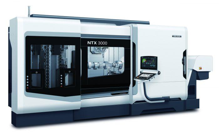 Az NTX 3000-rel a DMG MORI új, nagy méretű szerszámgépet mutat be a nagy teljesítményű eszterga-maró központok között.