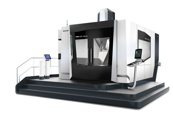 With a footprint of less than 24m², large components of up to 2,000 x 2,000 x 1,200 mm and 10,000 kg can be machined.
