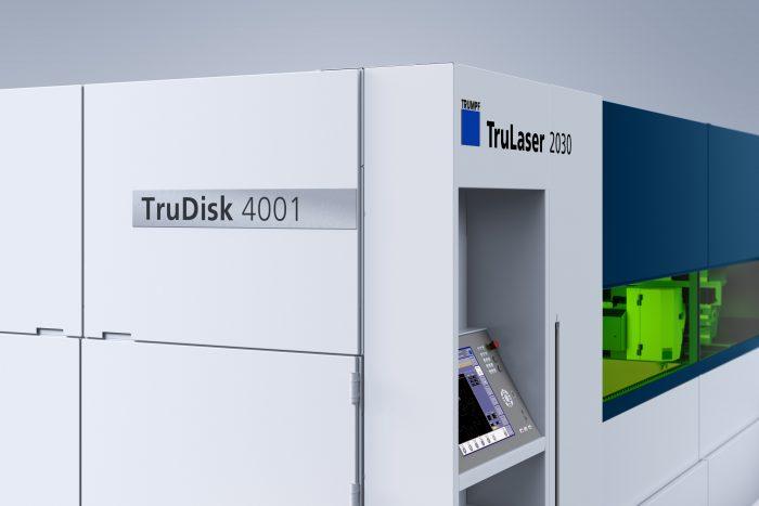 A TruDisk lézerforrással a szilárdtest-lézerek minden előnye kiaknázható. A TruLaser 2030 fiber 2, 3 vagy 4 kilowatt lézerteljesítménnyel rendelhető meg.