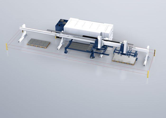 A TruLaser 2030 fiber egy kompakt gép előnyeit a magasabb kategóriás berendezések teljesítményével kombinálja