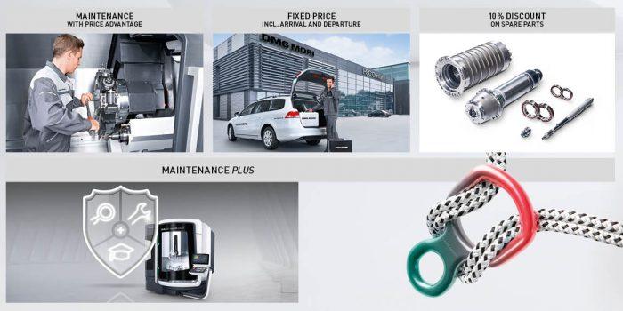 A DMG MORI Maintenance Plus programja egy kedvező áron kínált karbantartói megállapodás, ami a gép karbantartása során javasolt javítási munkálatokra adott kedvezményt is magában foglalja.